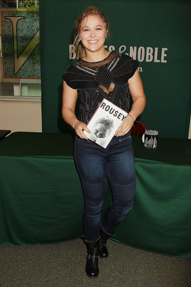 Ronda Rousey - Book Signing at Barnes & Noble in New York