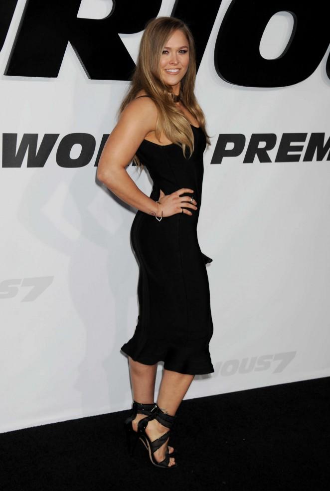 Ronda Rousey Quot Furious 7 Quot Premiere In La
