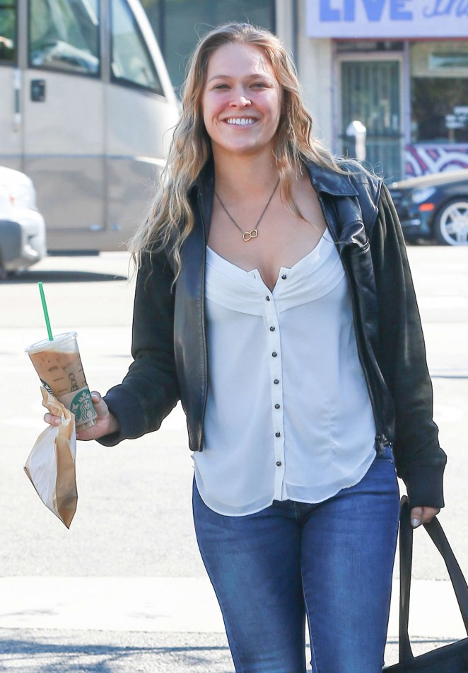 Ronda Rousey in Jeans out in Los Angeles