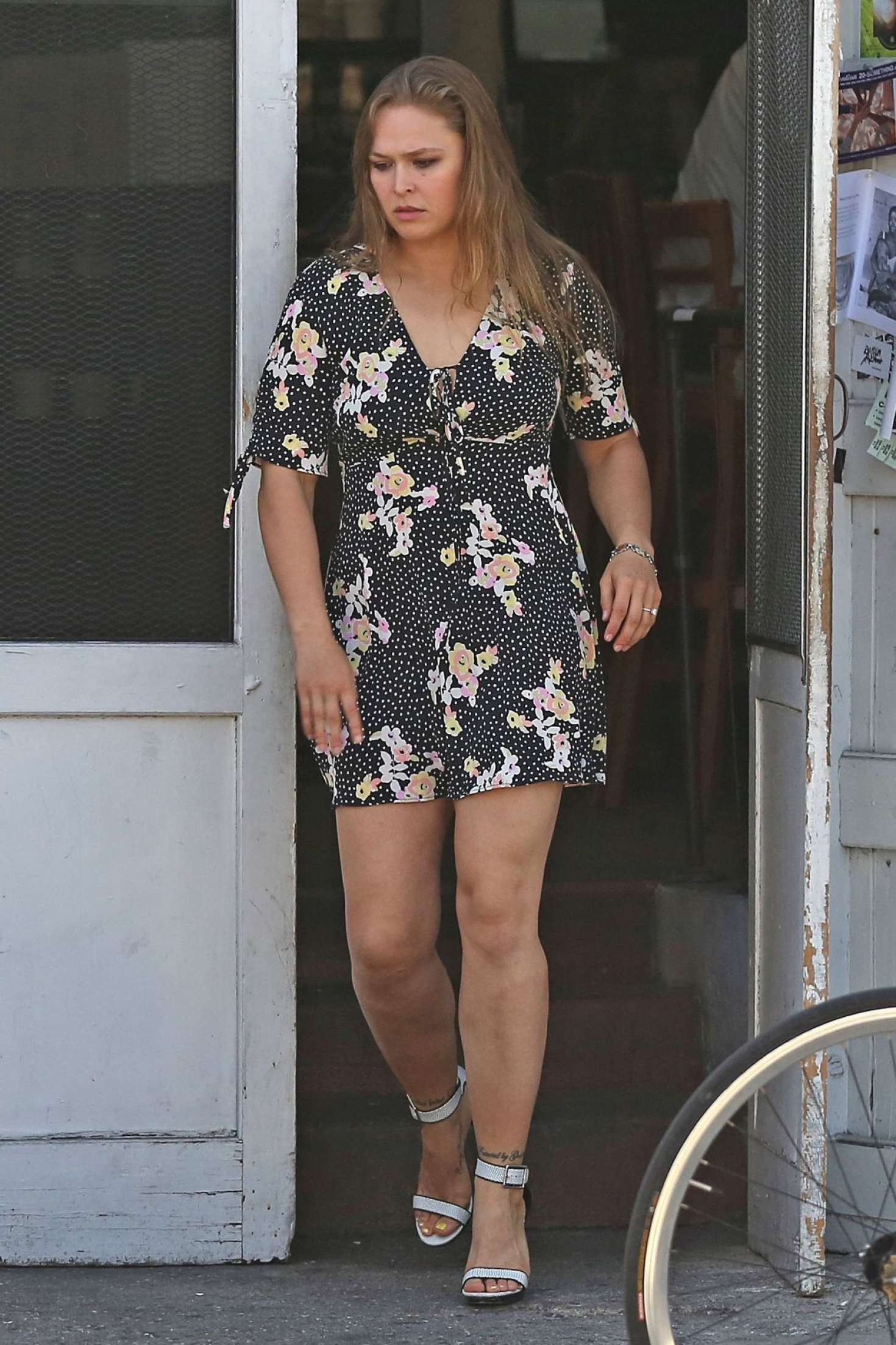 Ronda Rousey In Short Floral Dress 08 Gotceleb