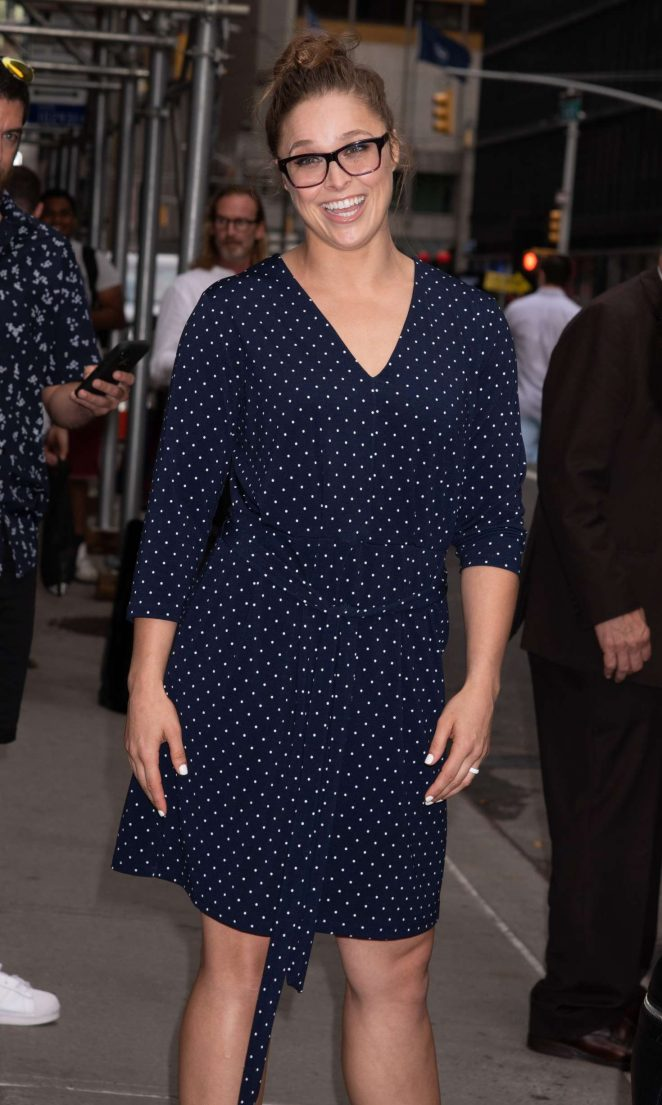 Ronda Rousey - Leaves Late Show with Stephen Colbert in NYC
