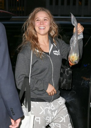 Ronda Rousey - Leaving the NBC Studios in NYC