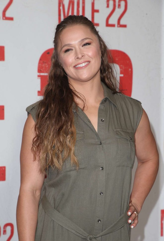 Ronda Rousey - 'Mile 22' Photocall in Los Angeles