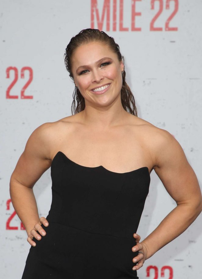 Ronda Rousey – 'Mile 22' Premiere in Los Angeles