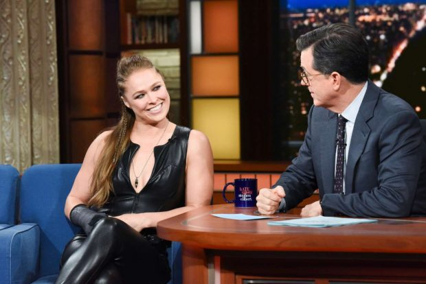 Ronda Rousey - On The Late Show with Stephen Colbert in NYC