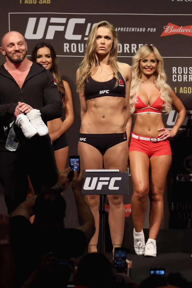 Back to post Ronda Rousey – UFC 190 Weigh In at the HSBC Arena in ...