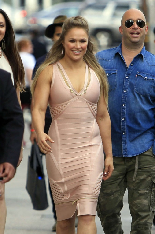 Ronda Rousey - Visits 'Jimmy Kimmel Live' in Hollywood