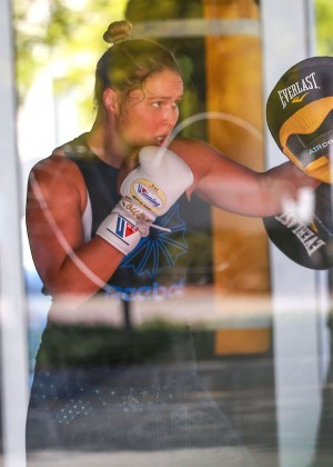 Ronda Rousey - Workout in a Gym in Los Angeles