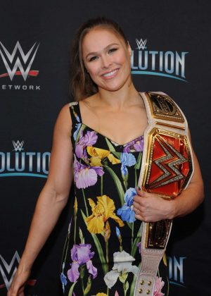 Ronda Rousey - WWE's First Ever all-women's event 'Evolution' in Uniondale
