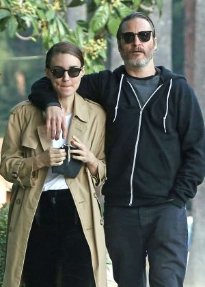 Rooney Mara and Joaquin Phoenix - Out in Los Angeles