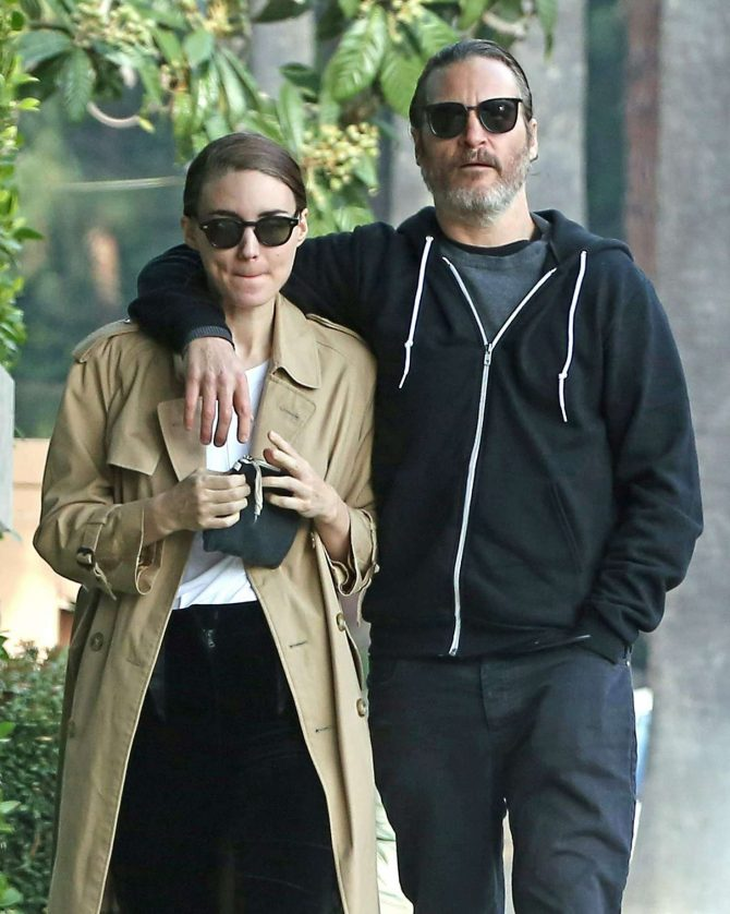 Rooney Mara and Joaquin Phoenix – Out in Los Angeles