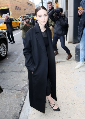 Rooney Mara at BOSS Women Fall 2016 Fashion Show in NYC