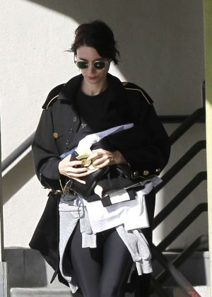Rooney Mara at House of Tailoring in West Hollywood