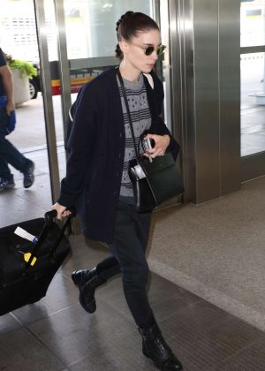 Rooney Mara at Toronto International Airport