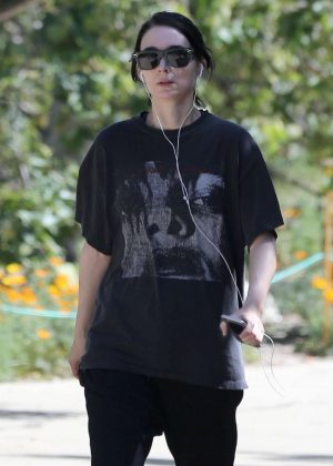 Rooney Mara - Goes for a hike at TreePeople Park in Studio City