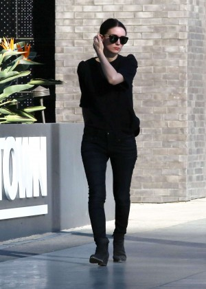 Rooney Mara in Black Jeans out in Beverly Hills