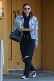 Rooney Mara in Black Ripped Jeans - Out in Hollywood