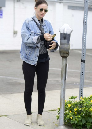 Rooney Mara in Tights Out in LA