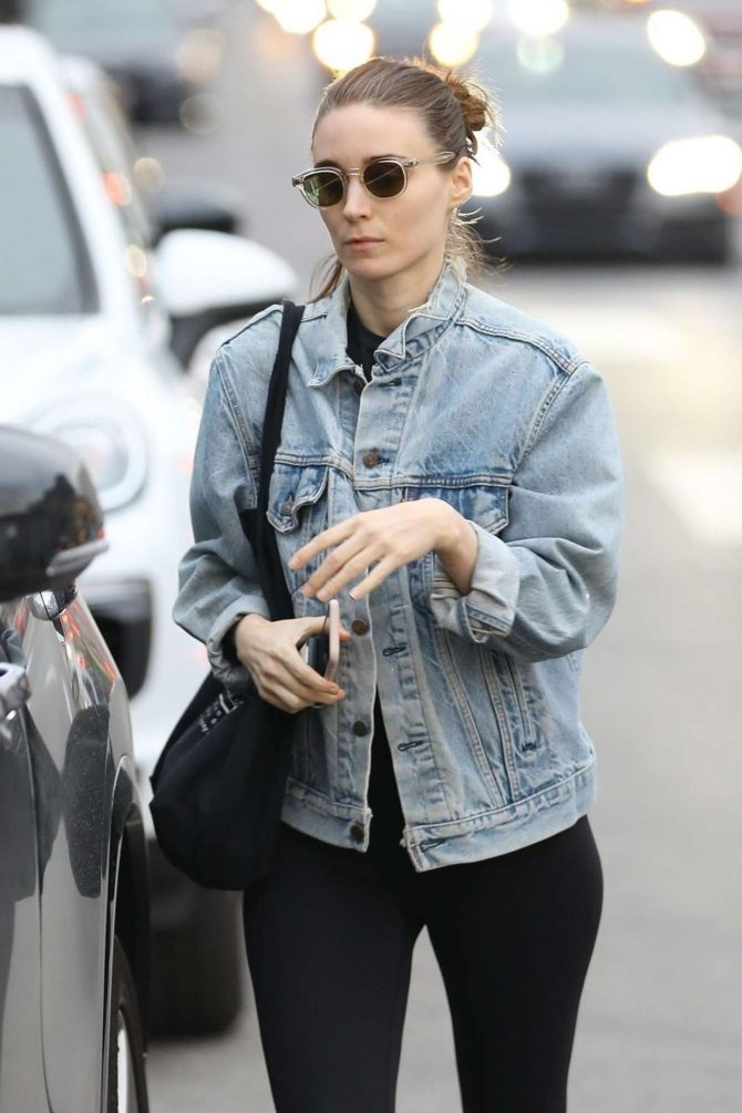 Rooney Mara in Tights - Shopping in West Hollywood