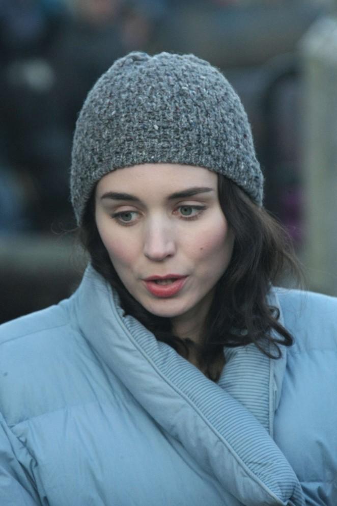 """Rooney Mara - Filming """"Secret Scripture"""" in Ireland"""
