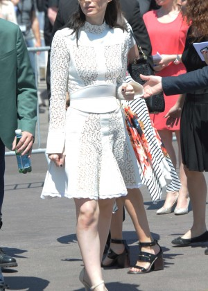 Rooney Mara in White Dress out in Cannes