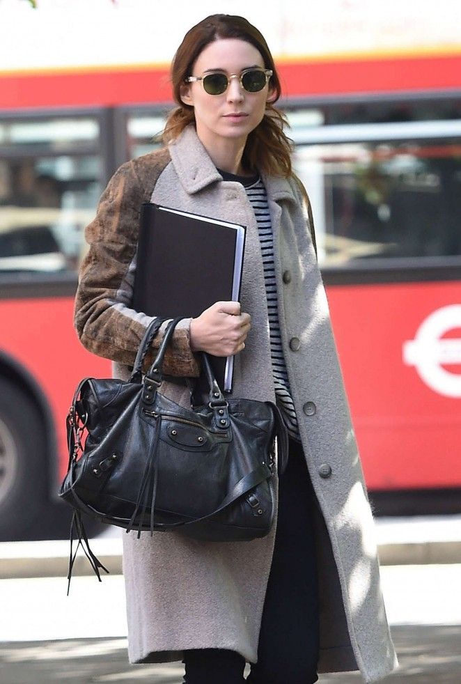 Rooney Mara - Out and about in London