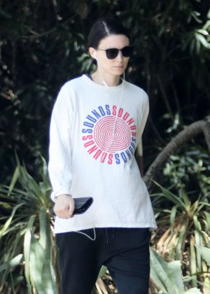 Rooney Mara - Out for a hike in LA