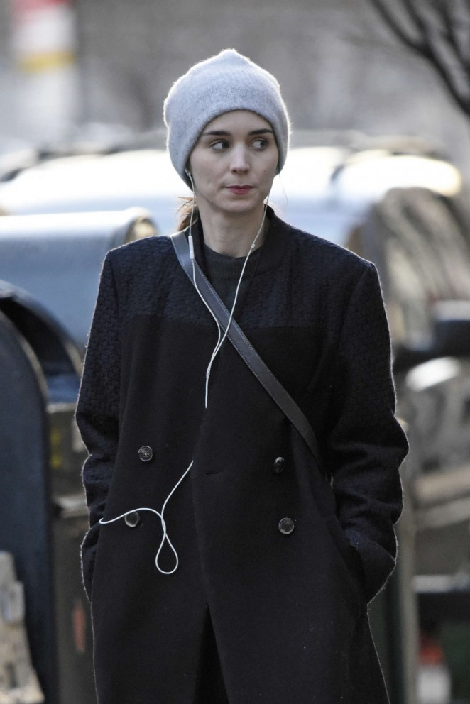 Rooney Mara out in downtown New York City