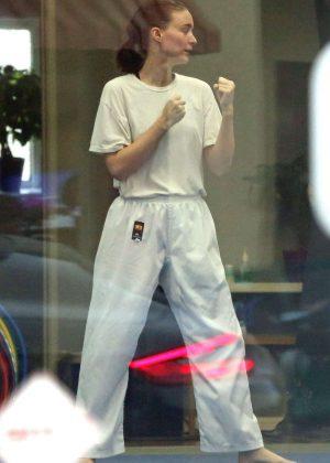 Rooney Mara - Takes Karate lessons in Los Angeles