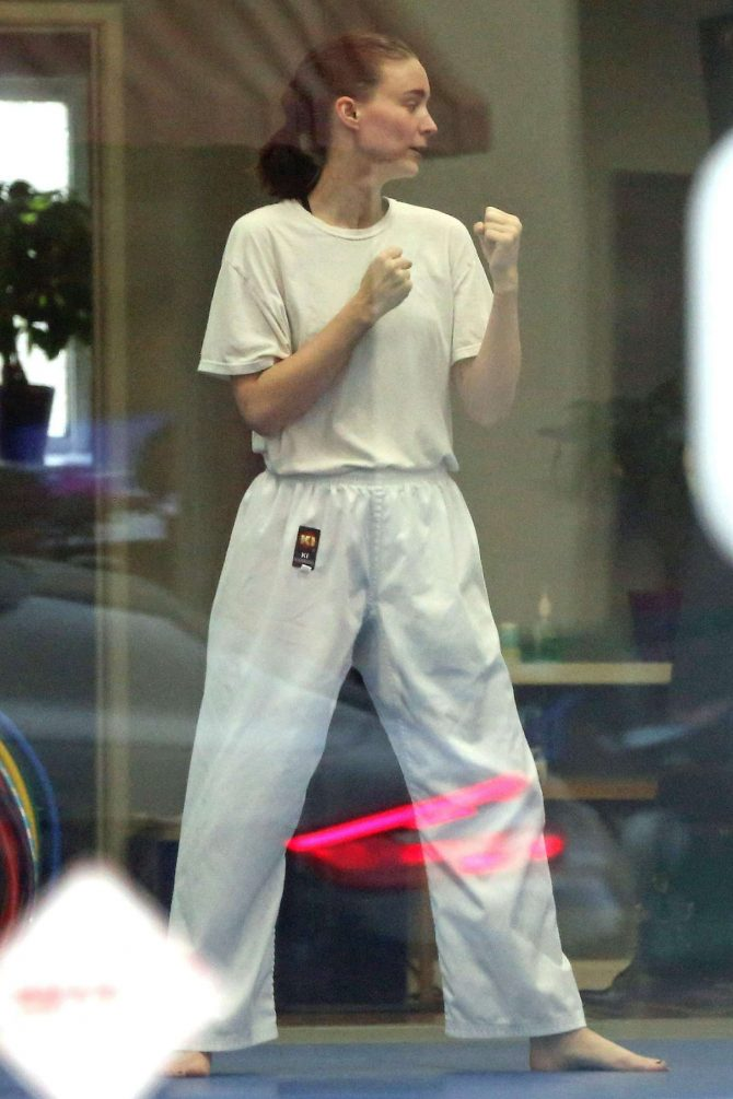 Rooney Mara - Takes Karate lessons in Los Angeles