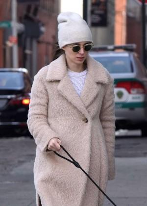 Rooney Mara Walking her dog in New York City