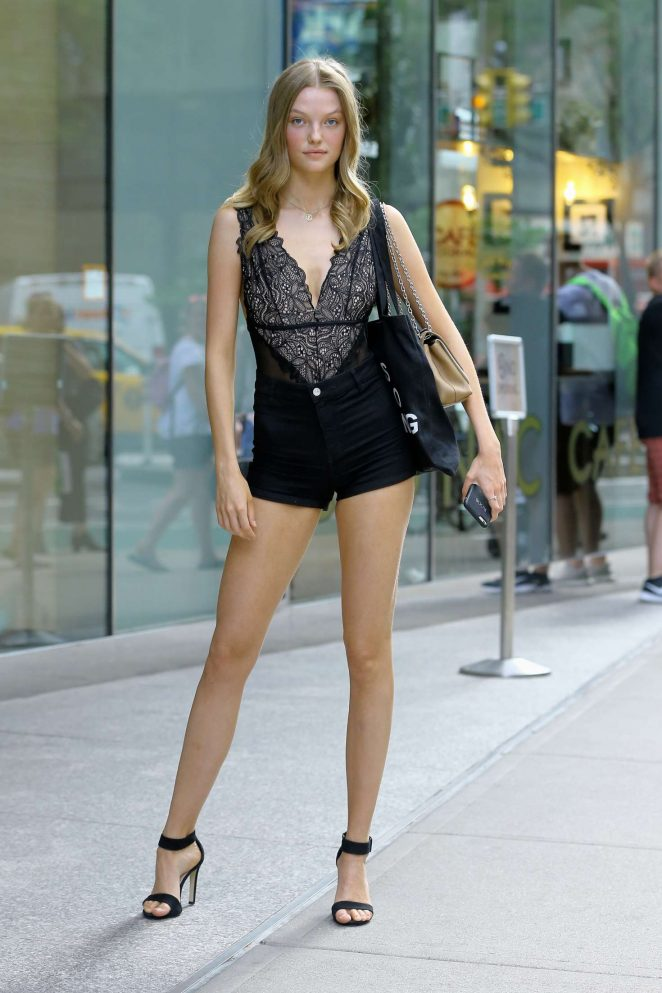 Roos Abels At Casting Call For The Victorias Secret Fashion Show