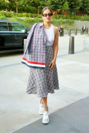 Rosalia - Arrives at Thom Browne SS22 during New York Fashion Week