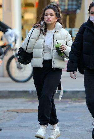 Rosalia - juice drink while walking around in Tribeca