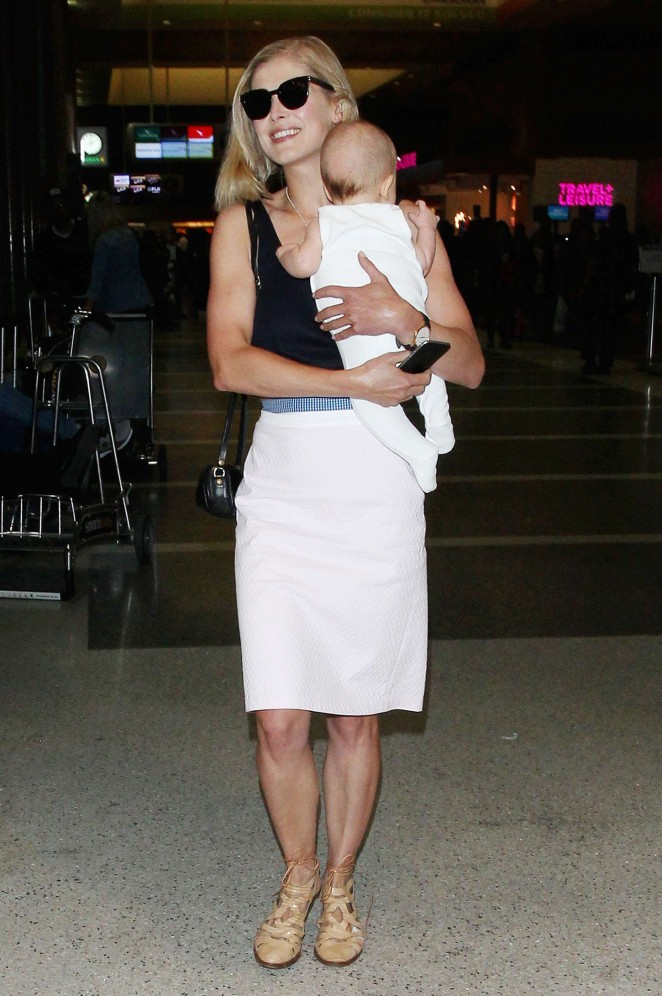 Rosamund Pike at LAX Airport in LA