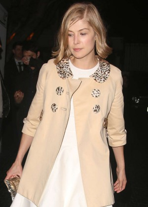 Rosamund Pike - Leaving Chateau Marmont in West Hollywood