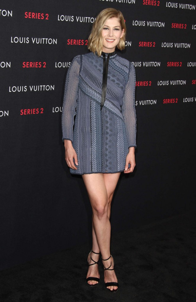 "Rosamund Pike - Louis Vuitton ""Series 2"" The Exhibition in Hollywood"