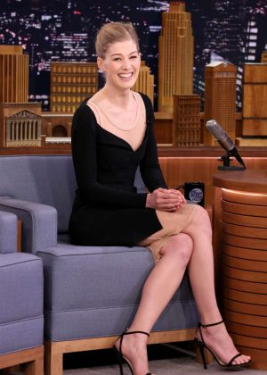 Rosamund Pike on 'The Tonight Show Starring Jimmy Fallon' in NY