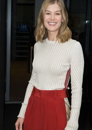 Rosamund Pike - Radio 2 Studios in London