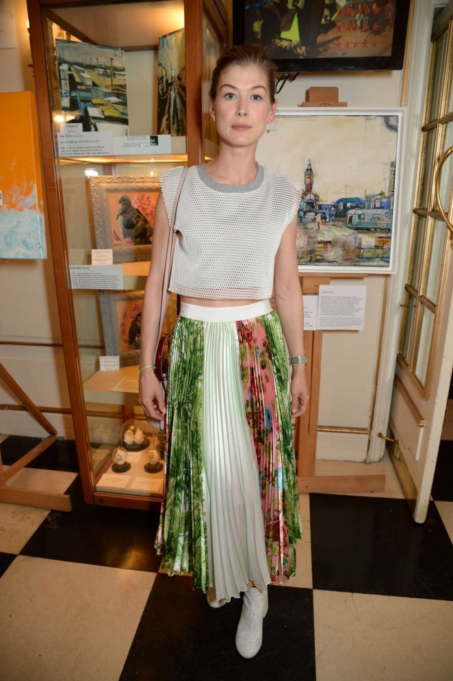 Rosamund Pike - Special performance of 'The Jungle' in London