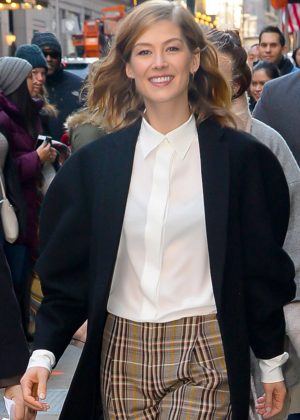 Rosamund Pike - Visiting Good Morning America in New York
