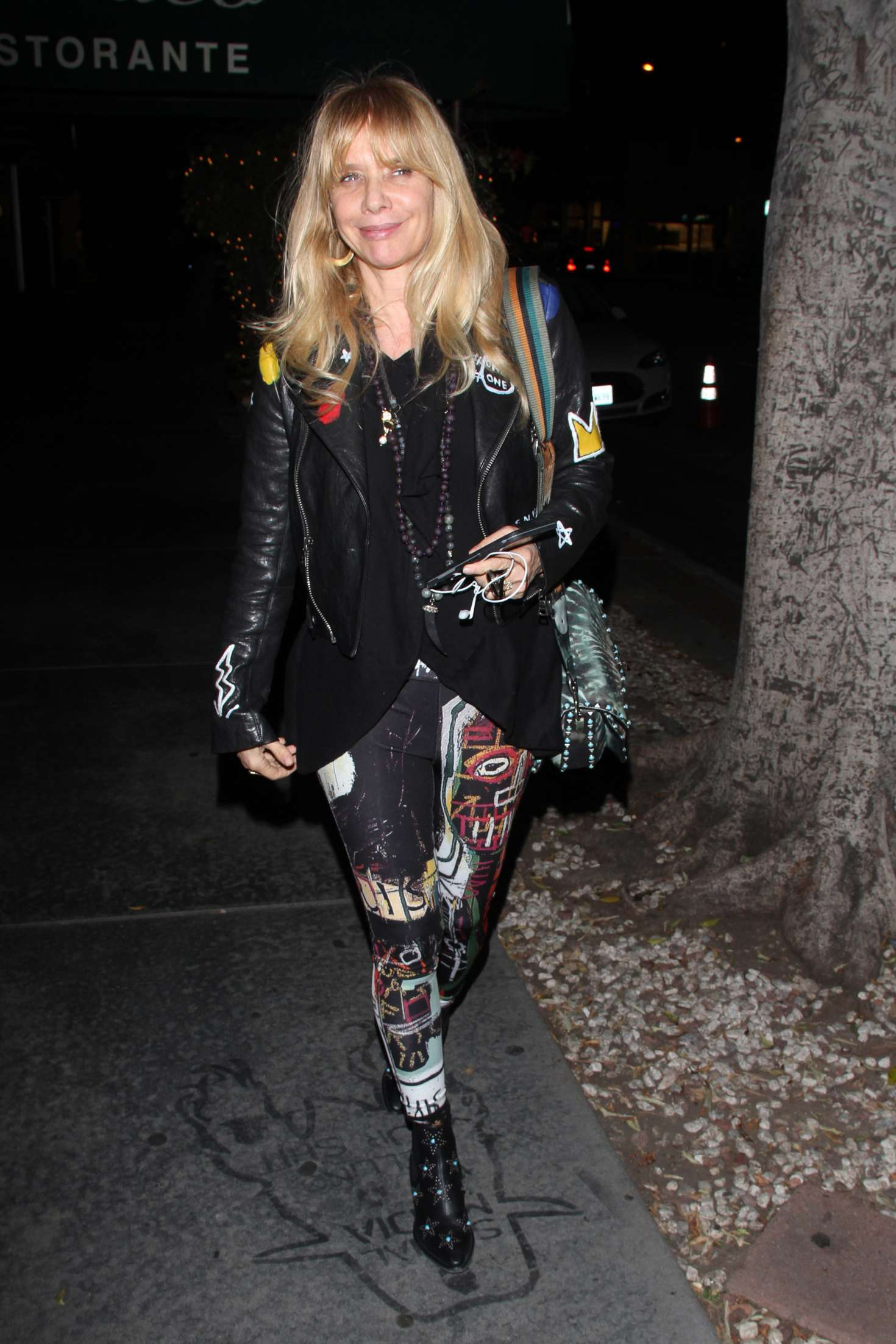 Rosanna Arquette at Madeo in West Hollywood