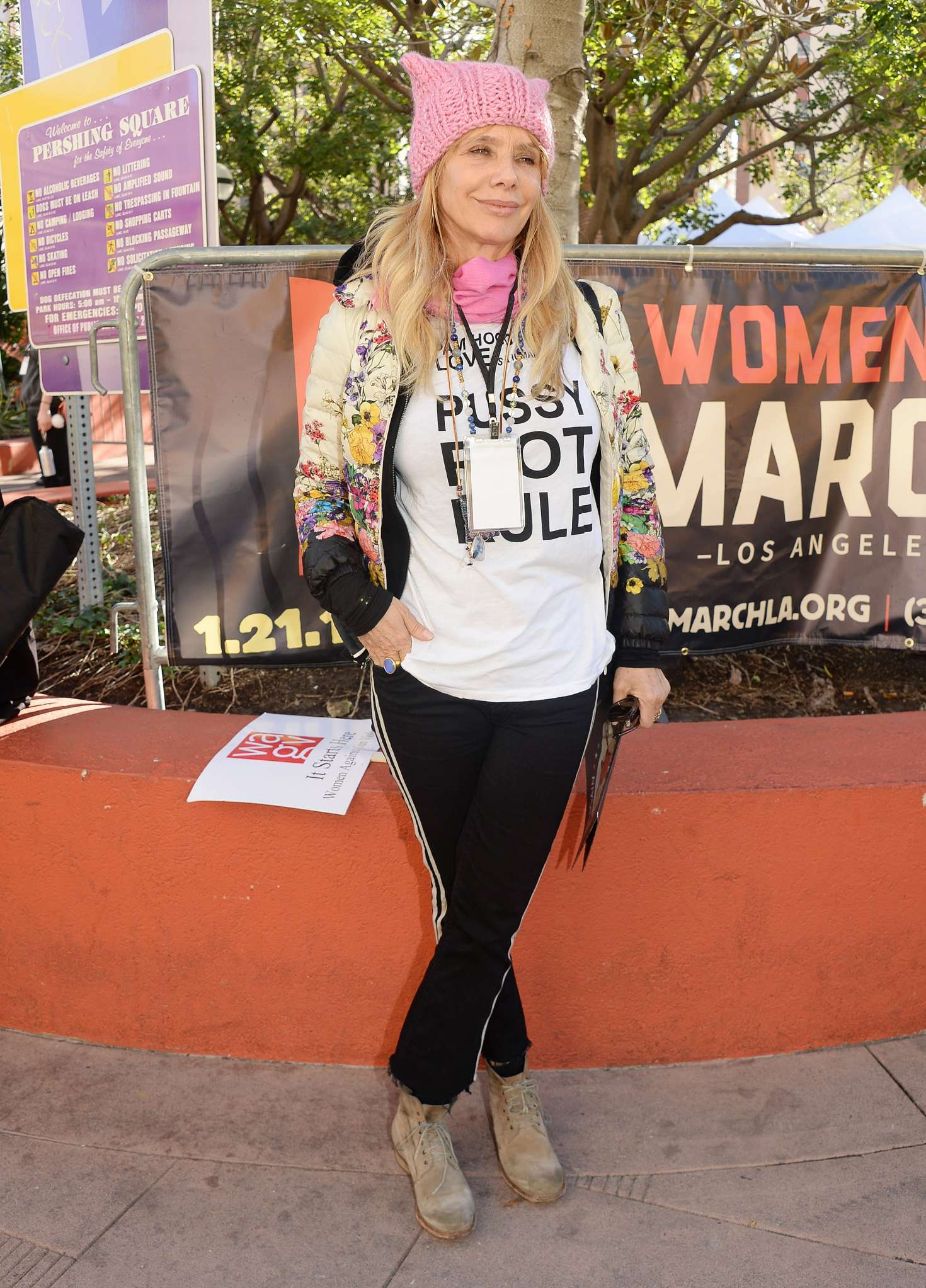 Rosanna Arquette - Women's March on Los Angeles
