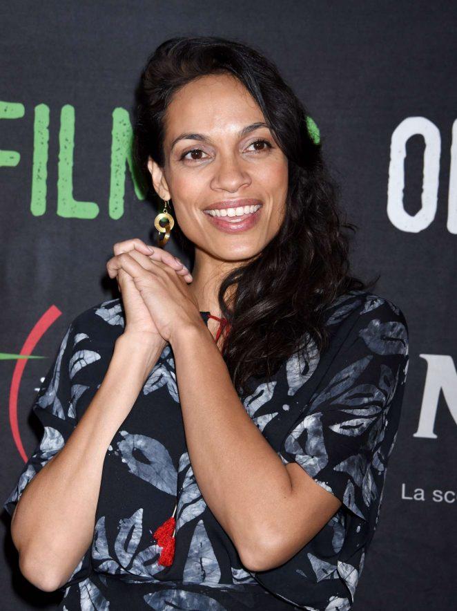 Rosario Dawson - 20018 Social Justice Award - Filming on Italy Festival in Los Angeles
