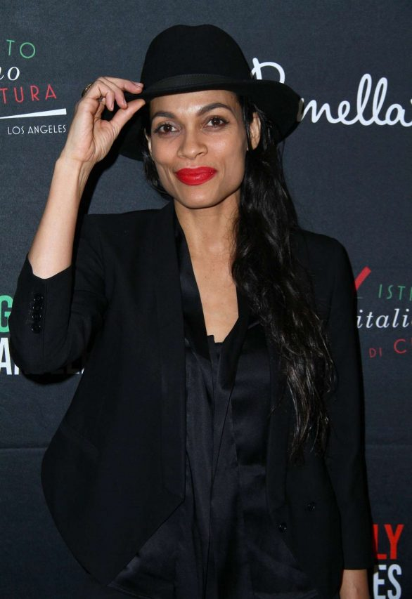 Rosario Dawson - 2020 Filming Italy at The Harmony Gold in Los Angeles