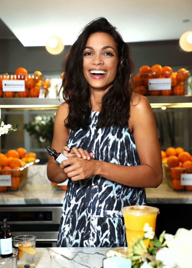Rosario Dawson at a breakfast event for SkinCeuticals CE Ferulic in LA