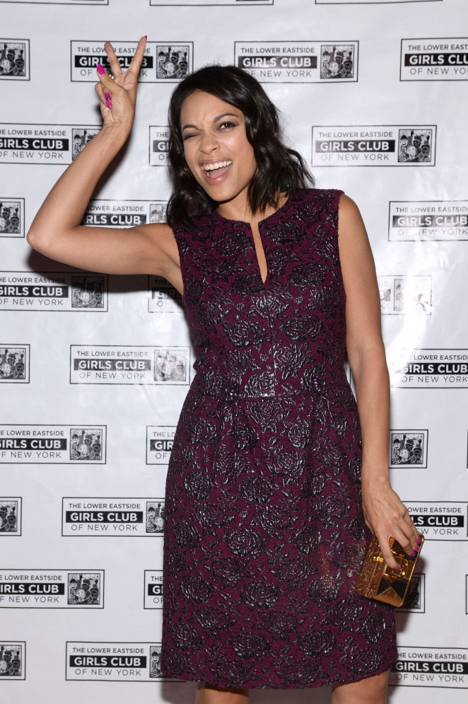 """Rosario Dawson – """"Celebrate Our Future"""" Benefit for the Lower East Side Girls Club in NY"""