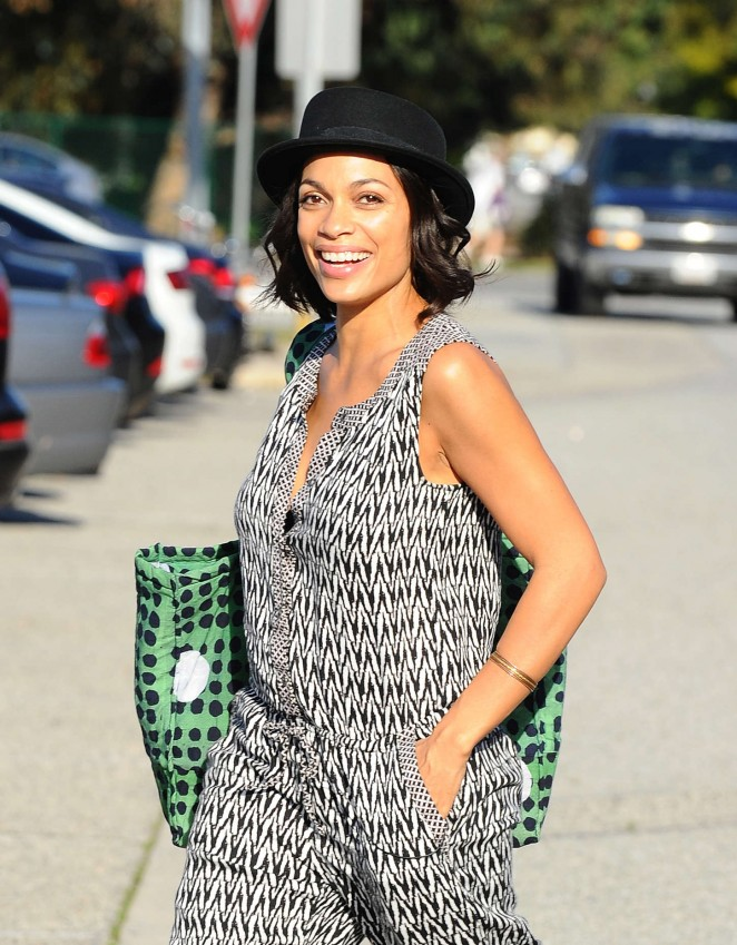 Rosario Dawson: Filming in Los Angeles -02