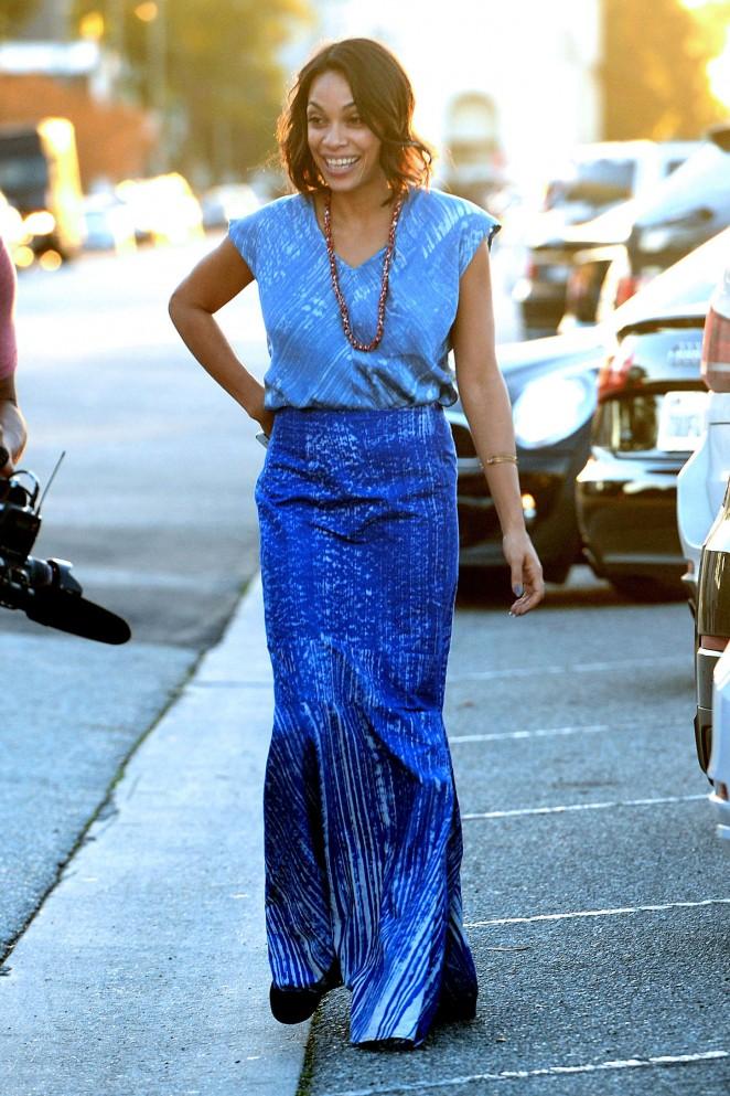 Rosario Dawson: Filming in Los Angeles -05