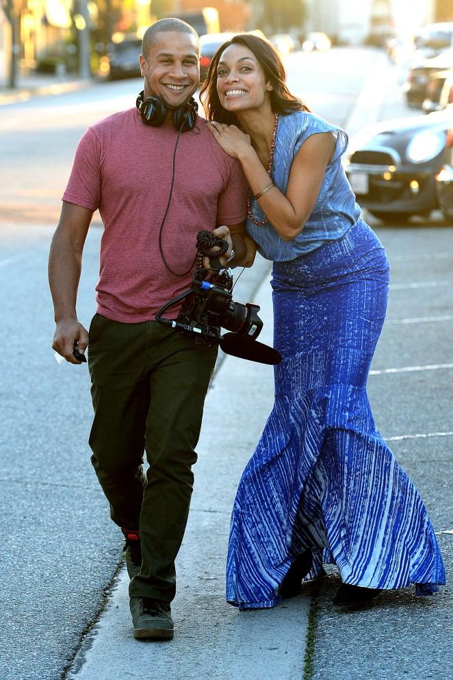 Rosario Dawson: Filming in Los Angeles -20